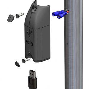 alfatronix stupni USB punjač montaža