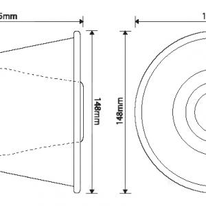Zvučnik MH100S dimenzije